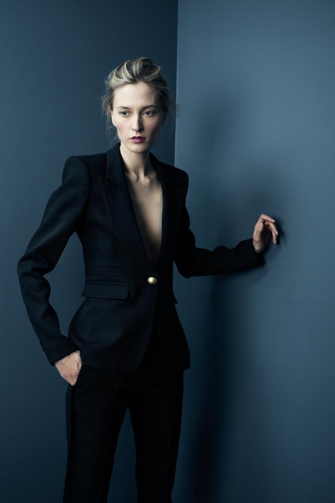 Peaked Lapel Tuxedo in black